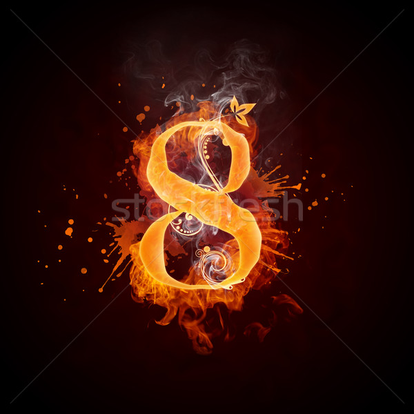 Fire Swirl Number 8 Stock photo © RAStudio