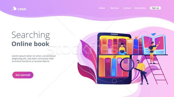 E-library concept vector illustration. Stock photo © RAStudio