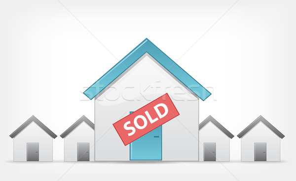 Sold Home. Vector EPS 10. Stock photo © RAStudio