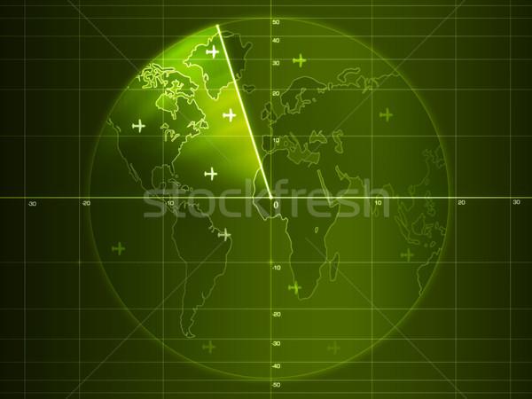 Radar schermo dettagli grafica computer Foto d'archivio © RAStudio