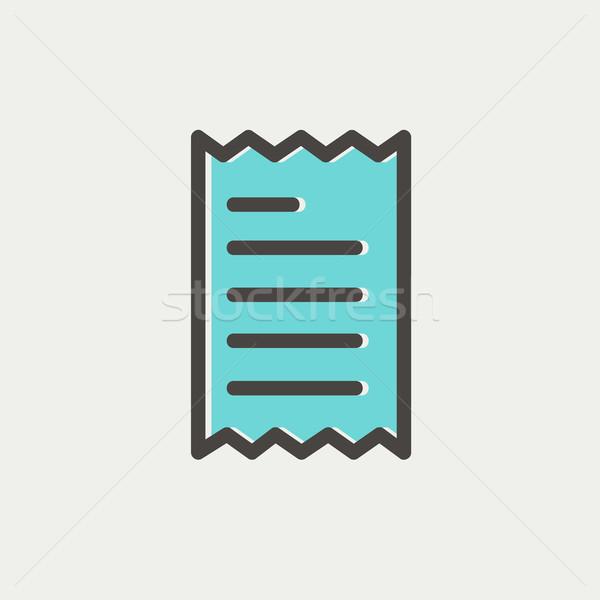Receipt thin line icon Stock photo © RAStudio