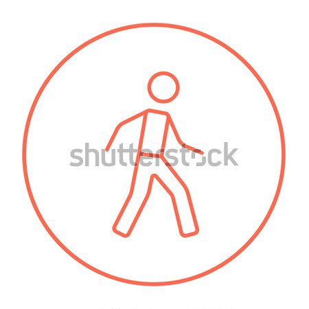 Okçuluk spor ince hat ikon web Stok fotoğraf © RAStudio