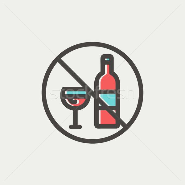 No alcohol sign thin line icon Stock photo © RAStudio