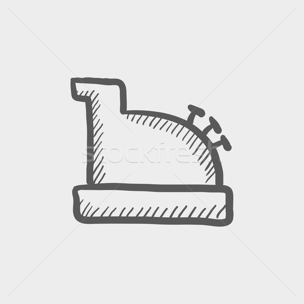 Antique cash register sketch icon Stock photo © RAStudio