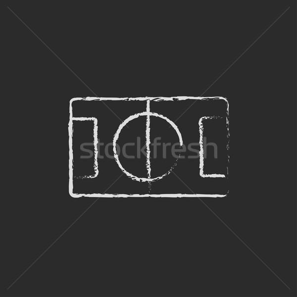 Stadyum düzen ikon tebeşir Stok fotoğraf © RAStudio