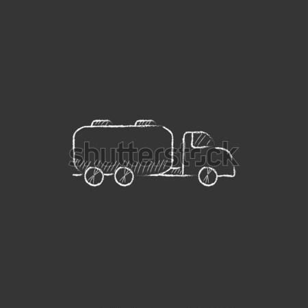 Camion liquide fret icône craie Photo stock © RAStudio
