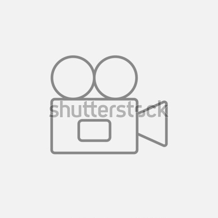 Video camera line icon. Stock photo © RAStudio