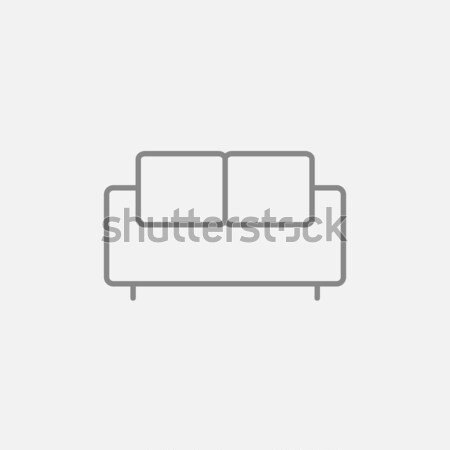 Sofa line icon. Stock photo © RAStudio