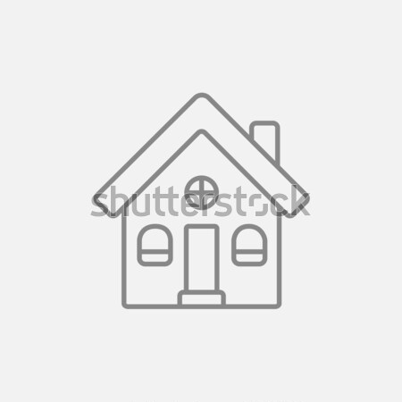 Maison individuelle ligne icône web mobiles infographie Photo stock © RAStudio
