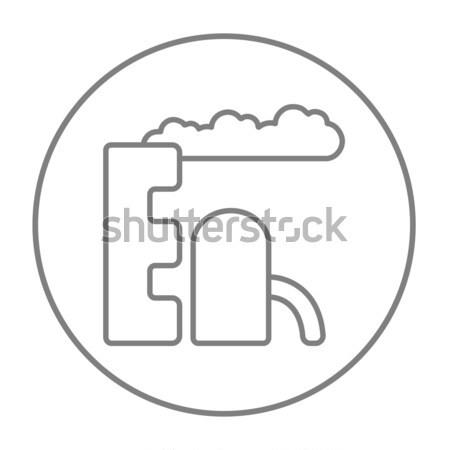 Stockfoto: Raffinaderij · plant · lijn · icon · web · mobiele