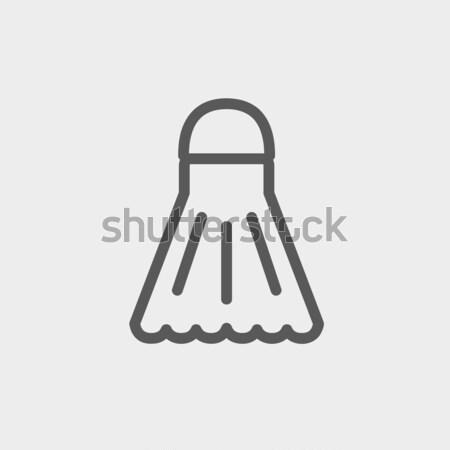 Shuttlecock line icon. Stock photo © RAStudio
