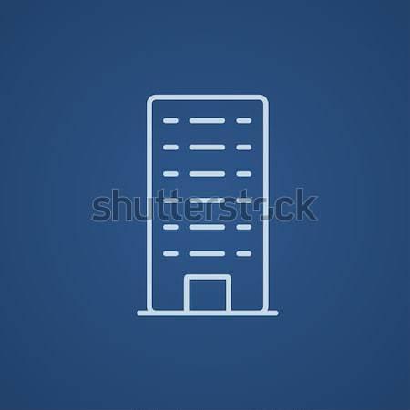 жилой здании линия икона веб мобильных Сток-фото © RAStudio