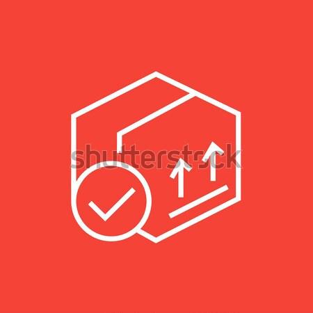 カートン パッケージ ボックス 行 アイコン 2 ストックフォト © RAStudio