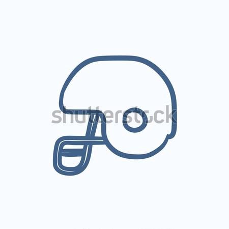 Hockey helmet line icon. Stock photo © RAStudio