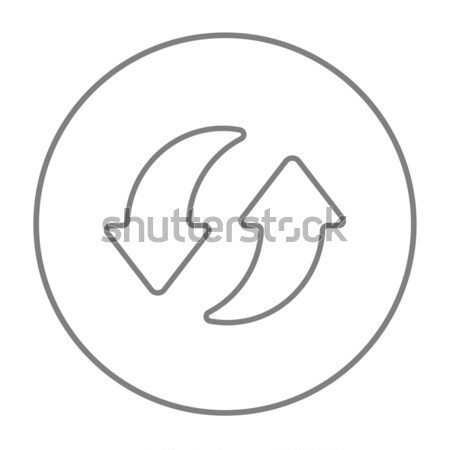Two circular arrows line icon. Stock photo © RAStudio