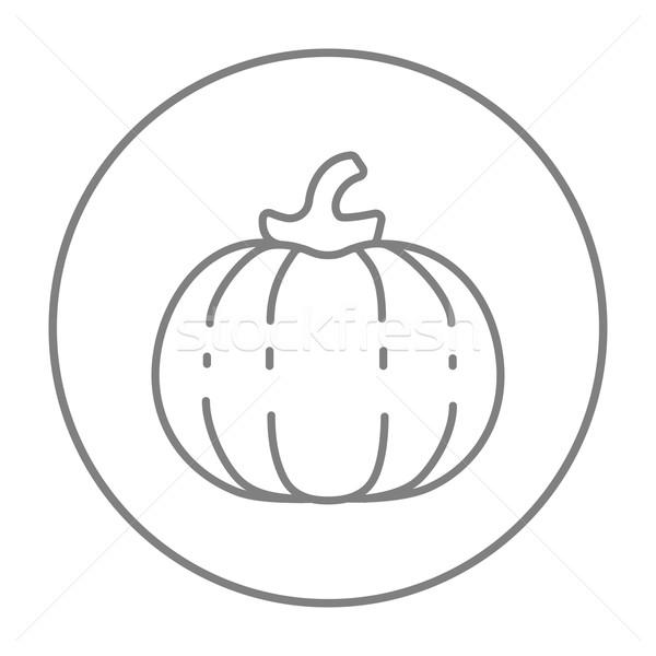 Pumpkin line icon. Stock photo © RAStudio