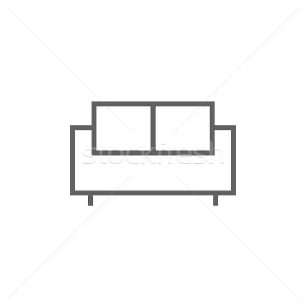 Sofa line ikona internetowych komórkowych Zdjęcia stock © RAStudio