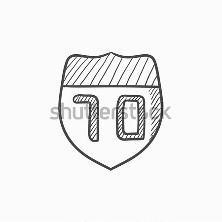 Route road sign sketch icon. Stock photo © RAStudio