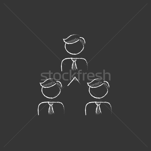 Business team. Drawn in chalk icon. Stock photo © RAStudio