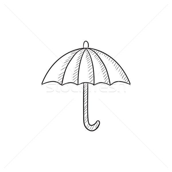 Umbrella sketch icon. Stock photo © RAStudio