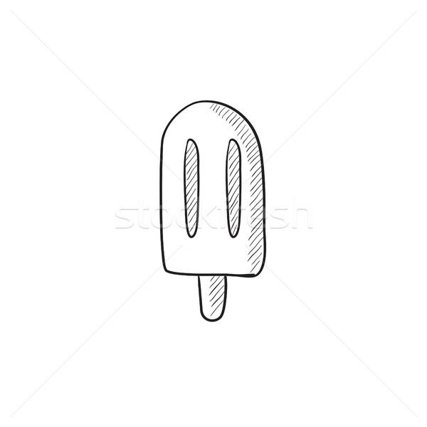 Popsicle sketch icon. Stock photo © RAStudio