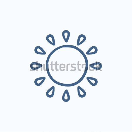 Sun sketch icon. Stock photo © RAStudio