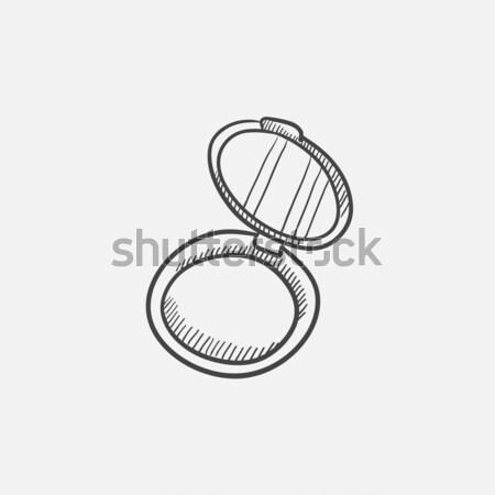 Powder box sketch icon. Stock photo © RAStudio