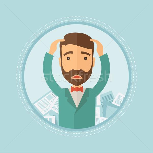 商人 文書 鬱悶 時髦 鬍鬚 商業照片 © RAStudio