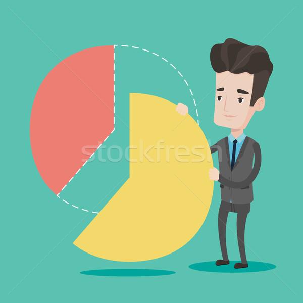 Businessman taking his share of the profits. Stock photo © RAStudio