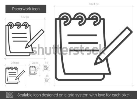 Paperasserie ligne icône vecteur isolé blanche Photo stock © RAStudio