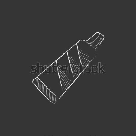 Buis tandpasta schets icon vector geïsoleerd Stockfoto © RAStudio