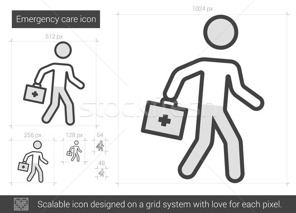 Emergency care line icon. Stock photo © RAStudio