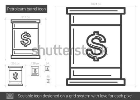 Stock photo: Petroleum barrel line icon.