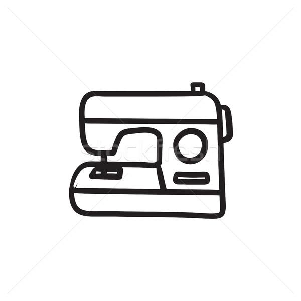 Sewing-machine sketch icon. Stock photo © RAStudio