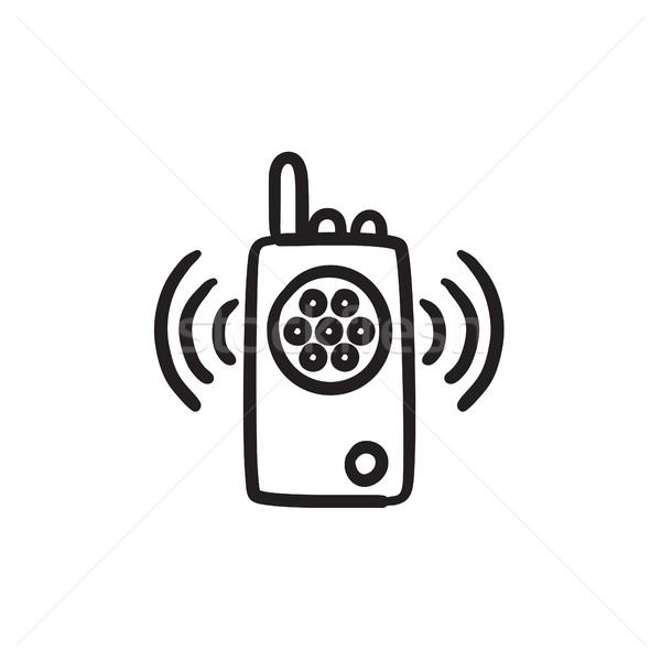 Radio set sketch icon. Stock photo © RAStudio