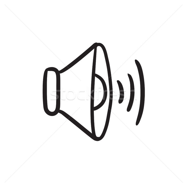 Lautsprecher · Volumen · Skizze · Symbol · Vektor · isoliert ...