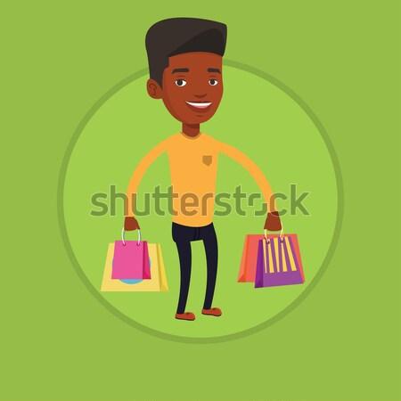 Man shopping online vector illustration. Stock photo © RAStudio