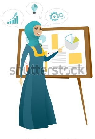 Asian business woman presenting business report. Stock photo © RAStudio