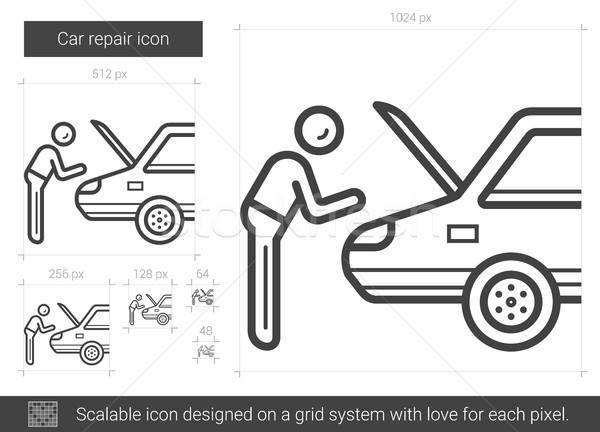 自動車修理 行 アイコン ベクトル 孤立した 白 ストックフォト © RAStudio
