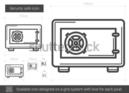 Veiligheid veilig lijn icon vector geïsoleerd Stockfoto © RAStudio