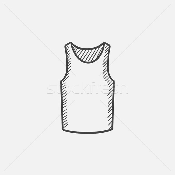 Male singlet sketch icon. Stock photo © RAStudio
