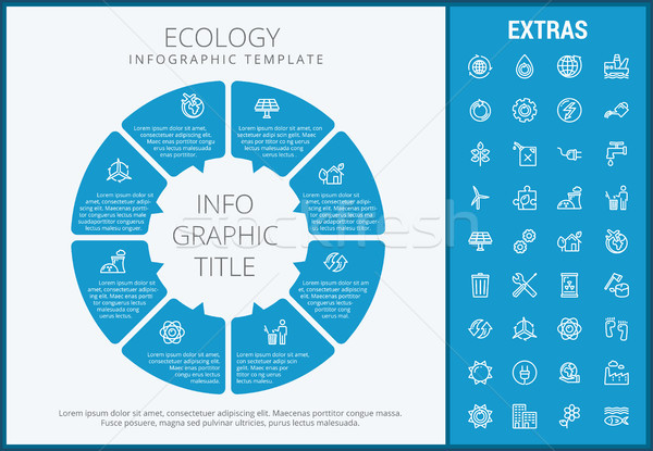 Ecology infographic template, elements and icons. Stock photo © RAStudio