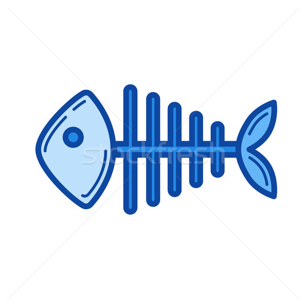Fish skeleton line icon. Stock photo © RAStudio