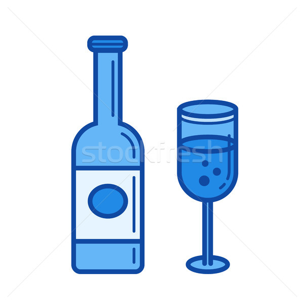 Sparkle wine line icon. Stock photo © RAStudio