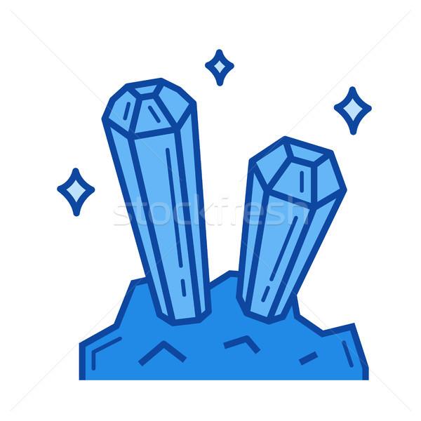 Mineral industry line icon. Stock photo © RAStudio