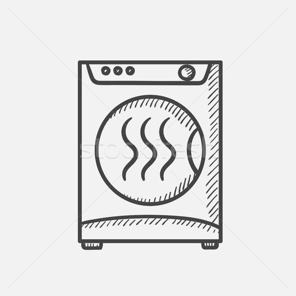 Dryer hand drawn sketch icon. Stock photo © RAStudio