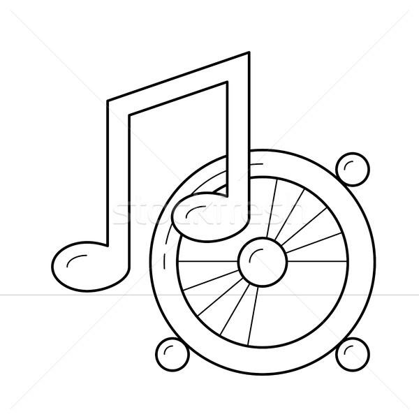 Listening to music line icon. Stock photo © RAStudio