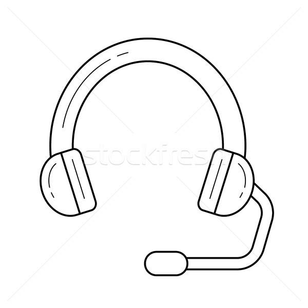 Headset line icon. Stock photo © RAStudio