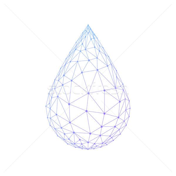 Veelhoek waterdruppel geïsoleerd drop olie Stockfoto © RAStudio