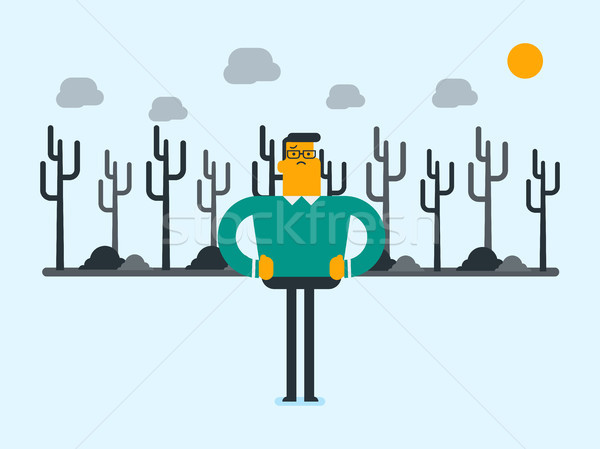 Człowiek martwych lasu biały człowiek stałego Zdjęcia stock © RAStudio